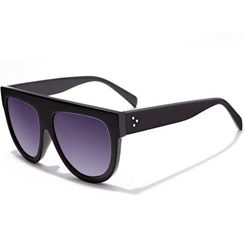 GQUEEN Übergroße Sonnenbrille Damen UV400 Retro Vintage Brille UV400,MOS9
