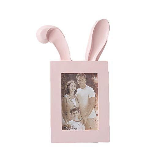 HMShun fotolijst, moderne dunne rand, kunsthars creatieve 6 inch fotolijst, horizontaal frame set tafelblad decoratie Vertical Pink
