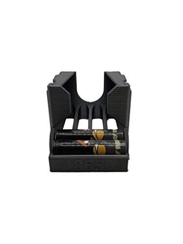 3D-Bude-Ruhr 18650 Batterie Akkurutsche, Akkuspender, Akkuhalter, Batteriehalter,Batteriespender für 10 Akkus LG,Samsung,Sony Dampfen,Vapeing (Schwarz)