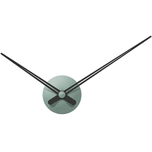Present Time - Wall Clock LBT Mini Sharp - Kunststof/Aluminium - Jade - Groen - Wandklok - D 44cm - Excl. 1 AA-batterij.