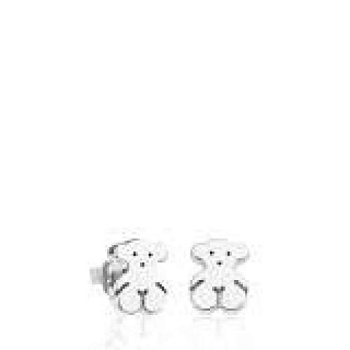 TOUS Girls Sweet Dolls Silver Stud Earrings, 07 cm