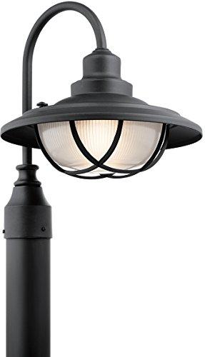 Kichler 49694BKT Harvest Ridge Outdoor Post, 1 Light Incandescent 100 Watts, Textured Black
