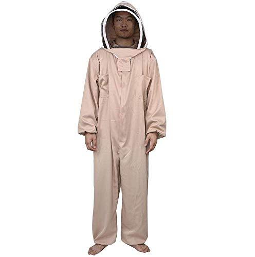Beschermende overall, Bijenteeltpak met sluier Dikke bijenteelt Beschermend pak voor imker Beginners Bijenteeltjas met imkerhoed,L