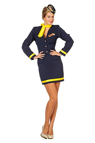 Wilbers 4092 Deluxe Kostüm Stewardesse Damen