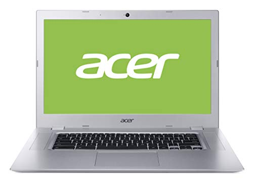 Acer Chromebook 315 (15,6 Zoll HD matt, 20mm flach, extrem lange Akkulaufzeit, schnelles WLAN, MicroSD Slot, Google Chrome OS) silber