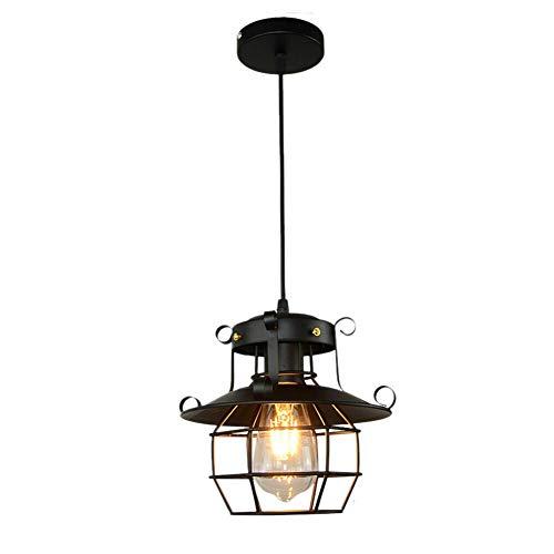 Lámpara de techo colgante retro industrial vintage, de hierro, para salón, restaurante, café, bar, cuerpo de iluminación, altura ajustable