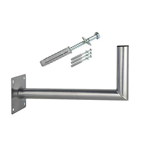 PremiumX 45 cm Wandhalter Stahl verzinkt SAT Antenne Wandhalterung Wand Montage Halter Wandabstand 45cm + Fischer Schraubensatz für Wand Montage