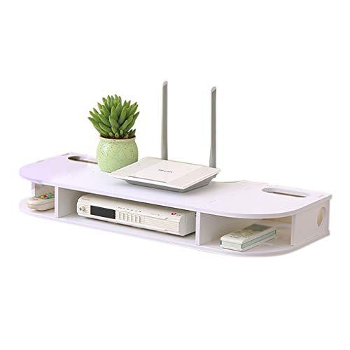Uzinb Montado en la Pared de TV Set-Top Box Plataforma WiFi Router de Almacenamiento en Rack de Pared Organizadores Caja de Almacenamiento en Rack