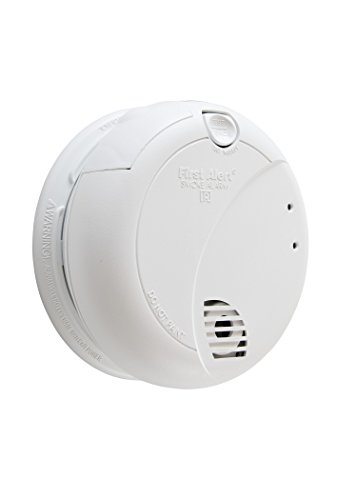 First Alert BRK 7010B Hardwired Smoke Detector with Photoelectric Sensor and Battery Backup , White