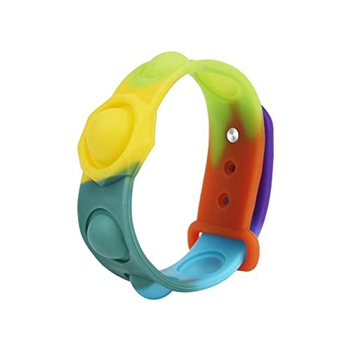 ZXVC Zappeln Spielzeug Push Popit Bubble Sensory Zappeln Toy Sensory Armband Spielzeug Angst Linderung Fingerspielzeug Reduzieren Sie Stress, geeignet für ältere Menschen, Kinder und Erwachsene