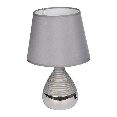 Paris Prix - Lampe à Poser en Céramique Ciment 30cm Gris