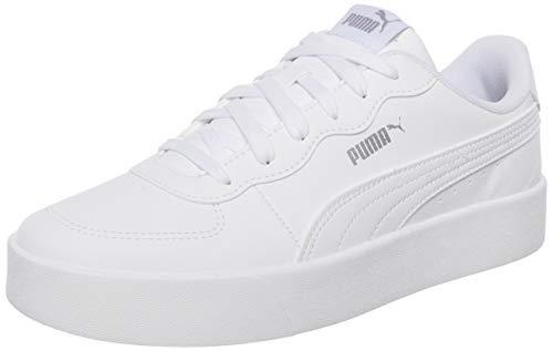 PUMA Damen Skye Clean Sneaker, Weiß White White Silver, 41 EU