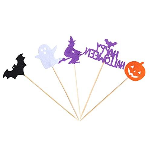 IMIKEYA 5 Piezas de Decoración de Torta de Halloween Decoraciones de Fiesta de Halloween Decoraciones de Fiesta Suministros para Fiestas