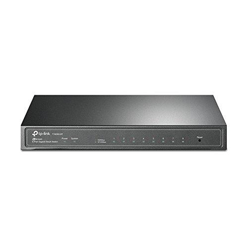 TP-Link 8 Port Gigabit Switch | Smart Managed Switch | Desktop | Lebenslanger Schutz | 802.3af PoE oder Direct DC Powered | unterstützt VLAN, L2/L3/L4 QoS, IGMP und Link Aggregation (T1500G-8T)