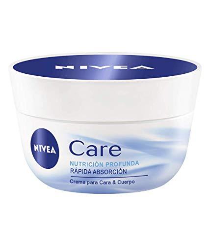 NIVEA Care (1 x 400 ml), crema de manos, cuerpo y cara hidratante, crema nutritiva de rápida absorción para una hidratación profunda 24 horas