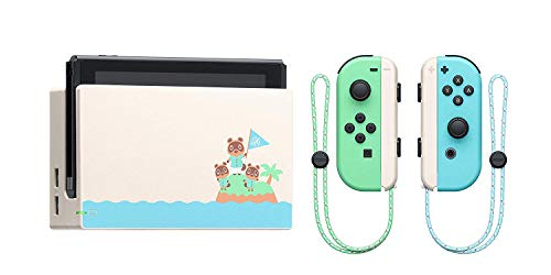 Nintendo Switch Console Animal Crossing vert turquoise (Edition Limité) + Animal Crossing New Horizons