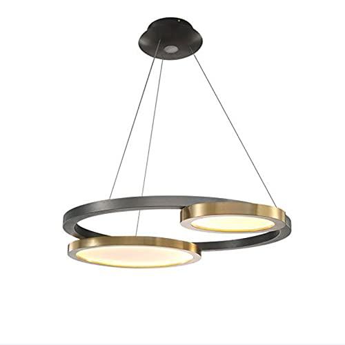 LWJDM Lampada A Sospensione LED Moderna Lampadario Dimmerabile con Telecomando Regolabile in Altezza Lampada da Soffitto 36W Ferro da Stiro Plafoniera 73cm per Cucina Sala da Pranz
