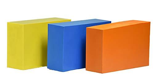 ABS Plastic Bar - 3 Colored Blocks - 2' x 4' x 6' for CNC Machining
