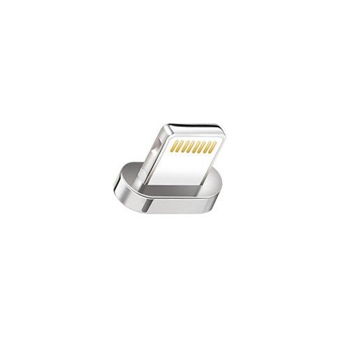 [i!®] 1x Adapter für Premium Nylon Magnet USB Ladekabel Datenkabel [1x Stecker] kompatibel mit Apple iPhone XS Max/XR/10/X/8Plus/7Plus/6SPlus/6Plus/5/SE iPad iPod