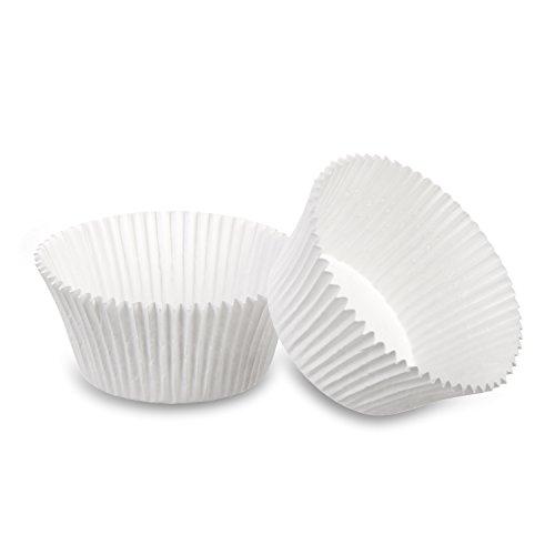 wenco Papier-Muffinförmchen, 96 Stück, Ø 6,5 cm, 3 cm hoch, Papier, Weiß, 518970