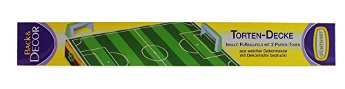 Tortendecke Fußballfeld mit 2 Toren aus Papier