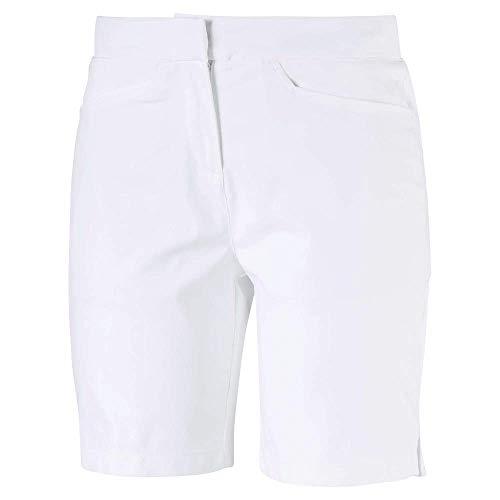 Puma Golf Women's 2019 Pounce Bermuda Short, Bright White, Large