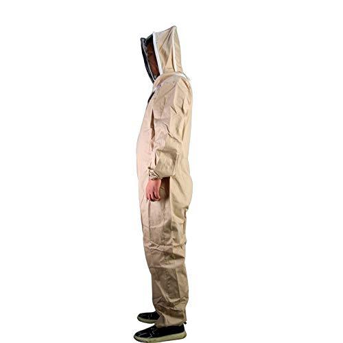 KQYAN Innenbelüftete Bienenzucht Anzug mit Schleier for den professionellen und Anfänger Imker/Imker Outfit Braun (Size : XS)