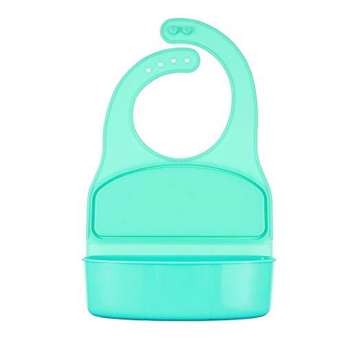 Baby Lätzchen Reisschüssel Babylätzchen Baby Silikon Lunch Box Teller Kinder Trennende Platte Platzset Rutschfester mit Saugnapf Abwaschbar leicht zu waschen (Grün)
