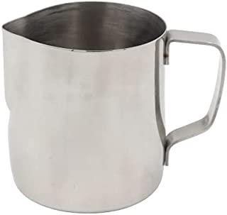 TATVAA Stainless Steel Milk Frothing Latte Pourer Cappuccino Coffee Jug (Pack of 1) (150 ML) (Steel)