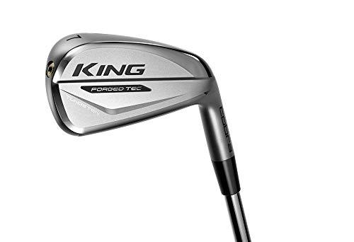 Cobra Golf 2020 King Forged Tec Iron Set (Men's, Left Hand, Steel, Stiff Flex, 4-PW)