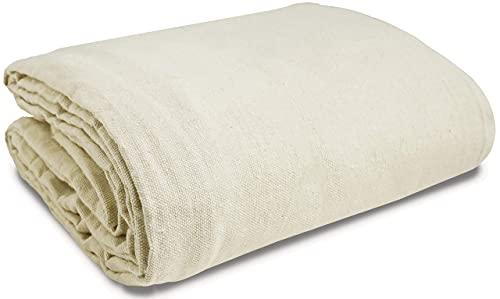 Canvas Drop Cloth (Size 6 x 9 Feet) Pack of 1 - Pure Cotton...