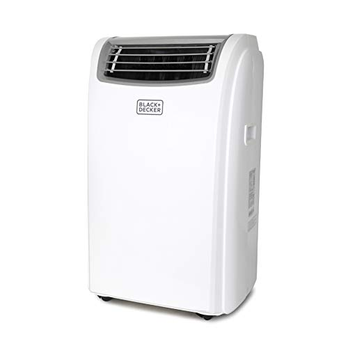 Black + Decker 7,500 BTU Portable Air Conditioner with Heat, 14,000 w, White