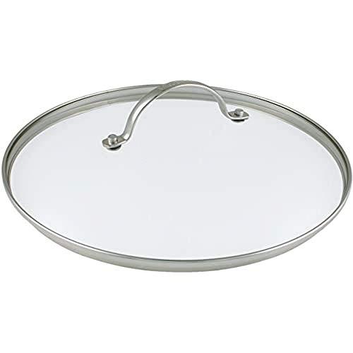 GreenPan Universal Glasdeckel für Bratpfanne und Kochtopf mit Edelstahl Griff, Spülmaschinengeeignet - 28 cm, Transparent