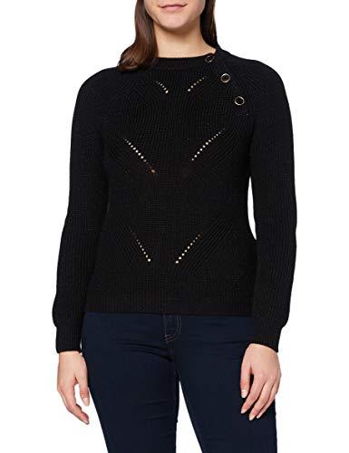 Naf Naf Msailor Suéter pulóver, Noir 625, XL para Mujer