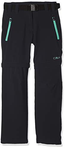 CMP Mädchen Zip Off Hose Antracite-Aquamint, 164