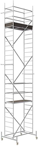 ALTEC Rollfix® 1.0 800-S | 8m AH | Rollen (Ø125mm) | Standardtraverse | Made in Germany | TÜV&GS | belastbar 200kg/m² | Alu Arbeitsgerüst | Baugerüst | Fahrgerüst