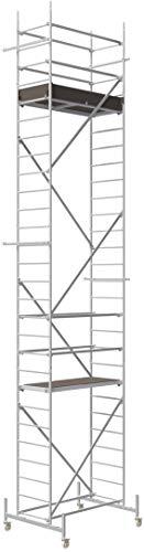"ALTEC Rollfix 800-S, Arbeitshöhe 8 m neu, inkl. Rollen (Ø 125 mm)\""Made in Germany\"", Alu Gerüst Aluminium Rollgerüst Fahrgerüst Baugerüst Zimmergerüst Arbeitsplattform Arbeitsbühne"