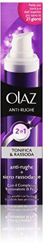 Olaz Antirughe Tonifica e Rassoda 2 in 1, Crema Anti-Età e Siero Rassodante, Ottimale come Base Trucco, 50 ml