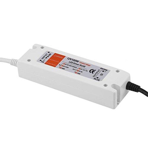 DC12V LED conductor fuente de alimentación 100W transformador 240V interruptor conductor para luces de tira LED