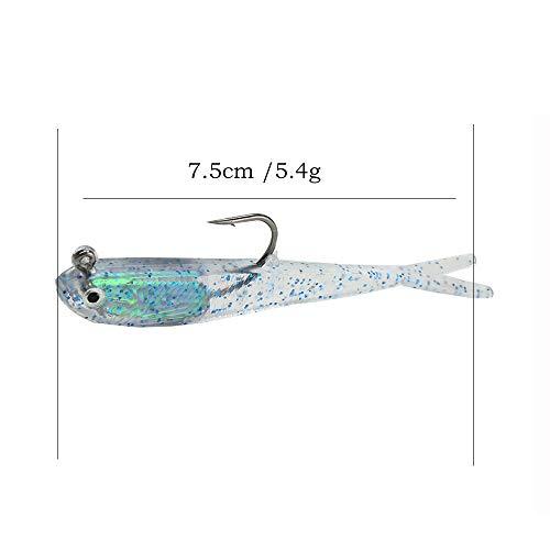 Hongma 10x Fischköder Angelnköder Fisch Form Farbig für Angeln MEHRWEG Blue