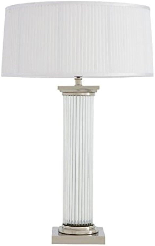 Casa Padrino Luxus Tischleuchte Nickel Durchmesser 18 x 52 x H 77 cm - Luxus Hotel Leuchte B01N7AOOWX | Gemäßigten Kosten