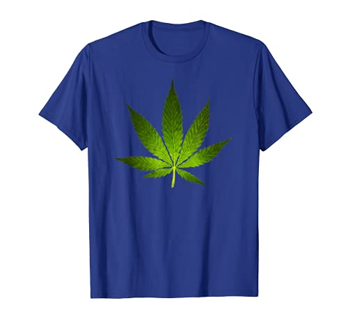 Majestic Weed Cannabis Plant Leaf Silhouette T-Shirt