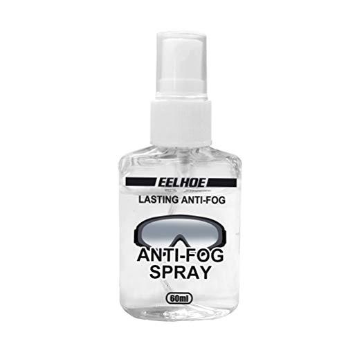 Brillen Antibeschlag Spray, 60ml Antibeschlagspray für Skibrillen Taucherbrillen Autoscheiben Helmvisiere Bad Visiere