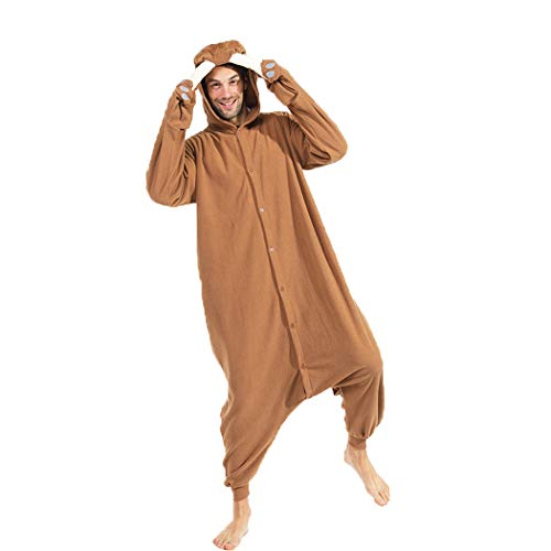 FORLADY Animal Walross Onesie Erwachsene Pyjamas Unisex Polar Fleece Cosplay Kostüme Leistungskostüm