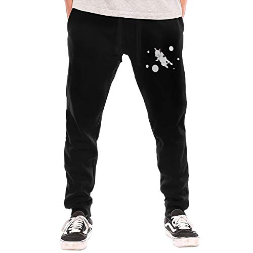 BibiQQgait Mens Jogger Sweatpants French Bulldog Yoga Close Bottom Lounge Pants Black