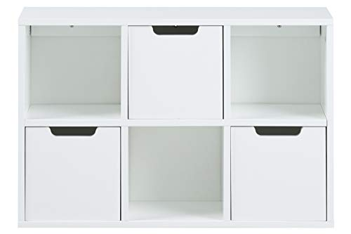 AC Design Furniture Regal Mariela, B: 58 x T:18 x H: 39 cm, MDF, Weiss