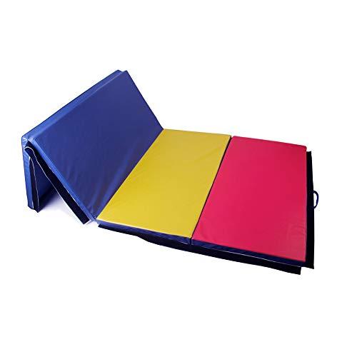 Polar Aurora 4'x10'x2 Thick Folding Gymnastics Exercise Mat Aerobics Stretching Yoga Mats (4 Color)