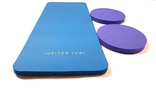 Jupiter Yogi Round and Rectangular Knee Pads Portable Elbow Pad for Yoga Floor Exercises Workout Pilates Gardening Cleaning