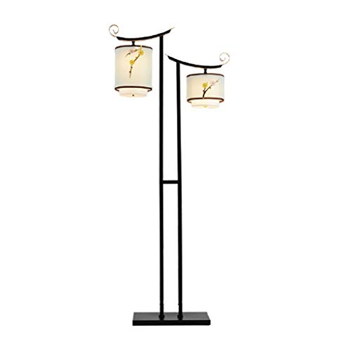Lámparas de Pie Lámpara de Piso Luz de Pie Diseños elegantes 2 Luz de la Madre/Hija Lámpara de pie pantalla de cristal de la sala de la lámpara de pie atmosférica La simplicidad del diseño del arte