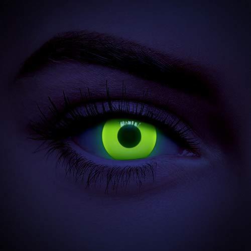 chromaview Lentillas De Color UV I-Glow Amarillo De 1 Día - Sin Graduación